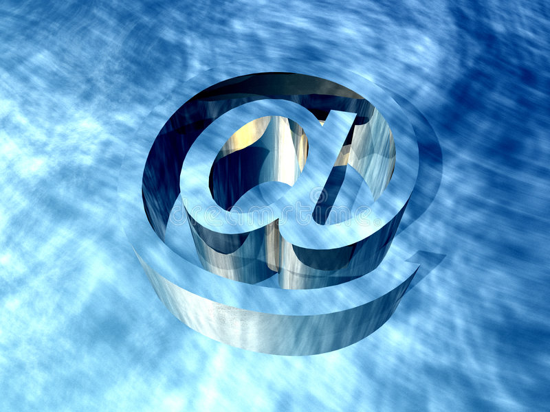 E-mail Teken royalty-vrije illustratie