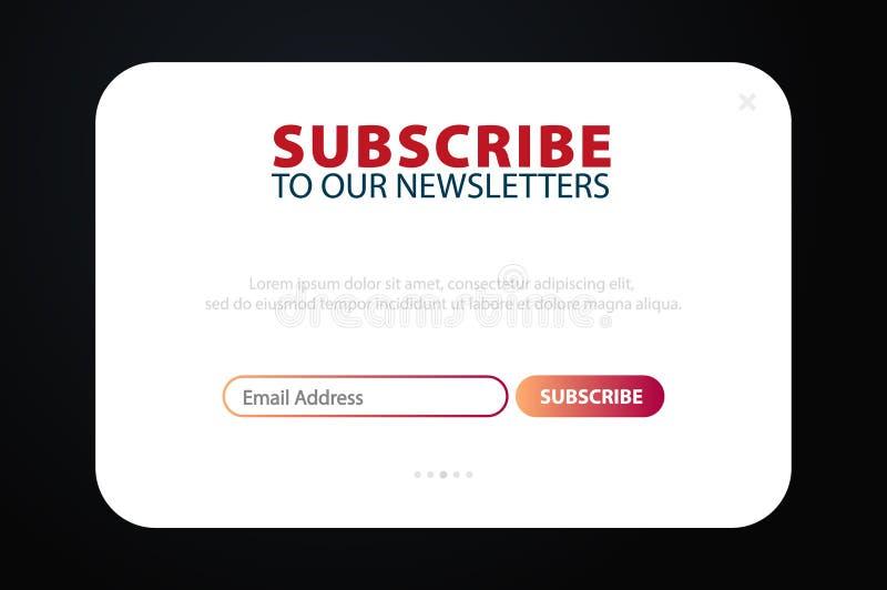 E-mail tekent, online bulletin, voorlegt knoop in De envelop en tekent knoop in UI UX-ontwerp Vector illustratie vector illustratie