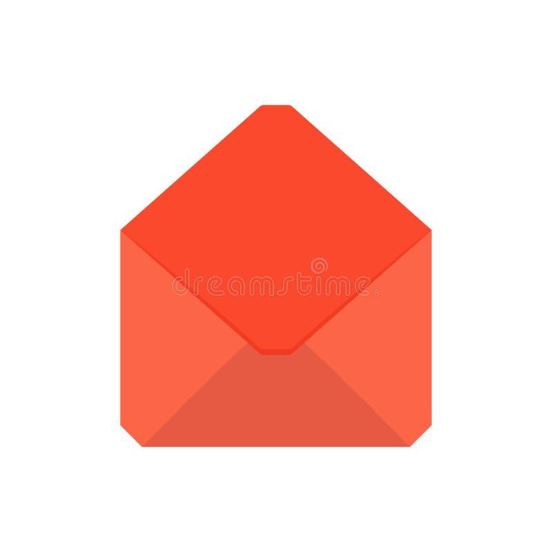 E-Mail-Umschlagbriefpost-Mitteilungsoffene gelesen senden Ikone lizenzfreie abbildung