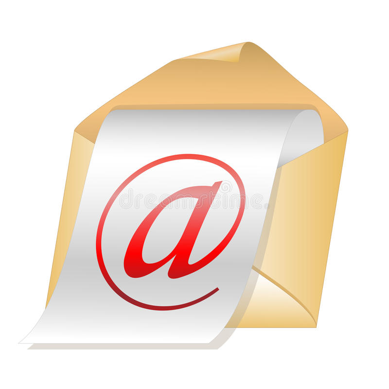 Download E-mail vector icon stock vector. Image of shape, communications - 25809736