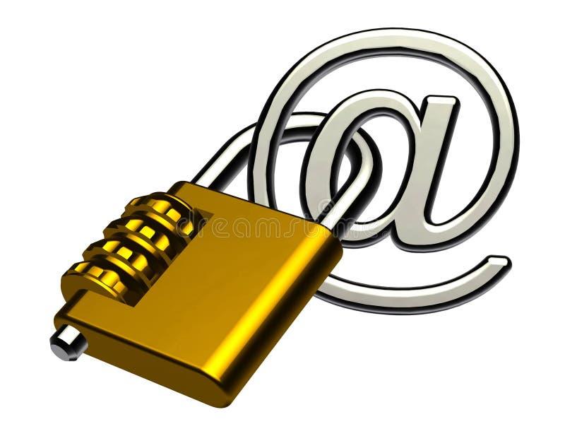 E-mail veiligheid stock illustratie
