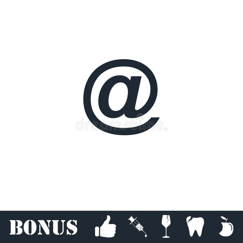 E-mail vlak pictogram royalty-vrije illustratie