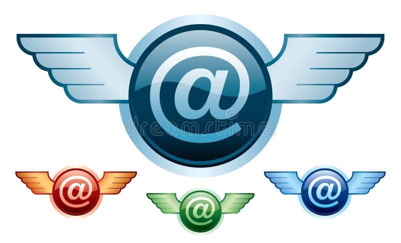 E-mail vleugels vector illustratie