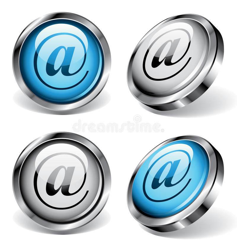 Download E-mail Web Buttons Stock Images - Image: 12026684