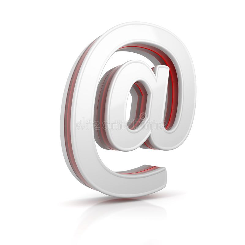 E-mail web icon. Conceptual image 3d image renderer royalty free illustration