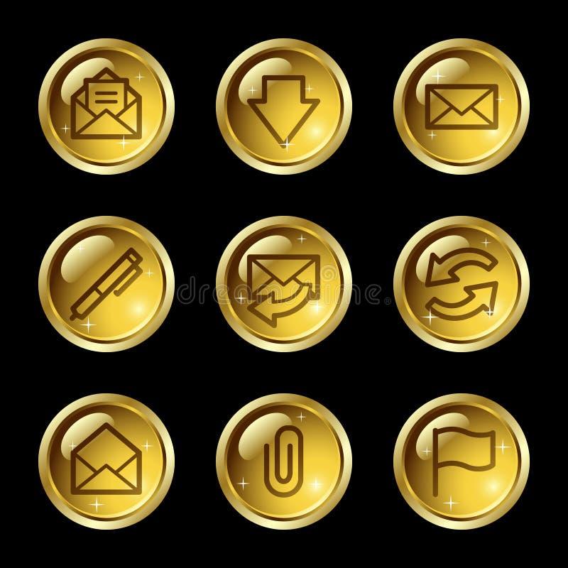 E-mail web icons stock illustration