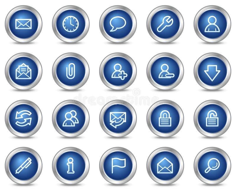 E-mail Webpictogrammen stock illustratie