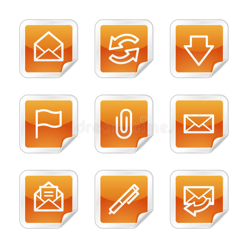 E-mail Webpictogrammen vector illustratie