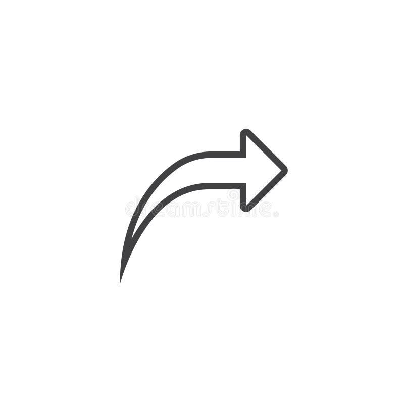 Download E-Mail-Weiterleitungs-Linie Ikone, Entwurfslogoillustration, Linear Stock Abbildung - Illustration von pictogram, zeichen: 90234806
