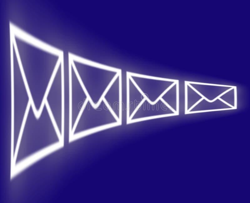 E-mail wikkelt vector illustratie
