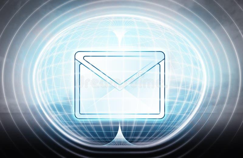 E-mail wtykał w energetycznej kapsule jako nauka projekt ilustracja wektor