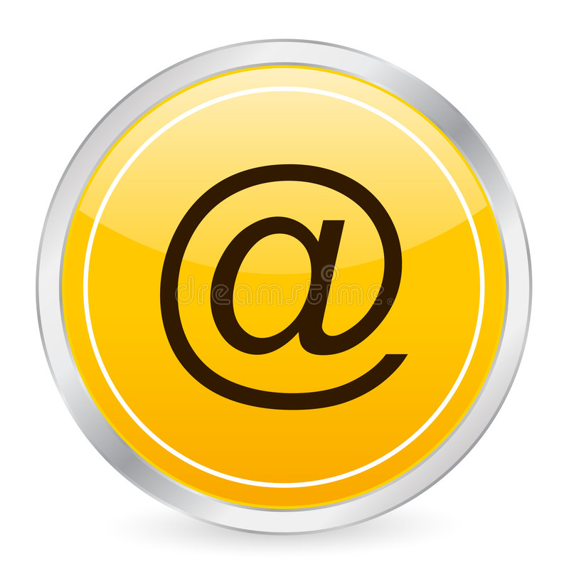 E-mail yellow circle icon. Vector illustration vector illustration