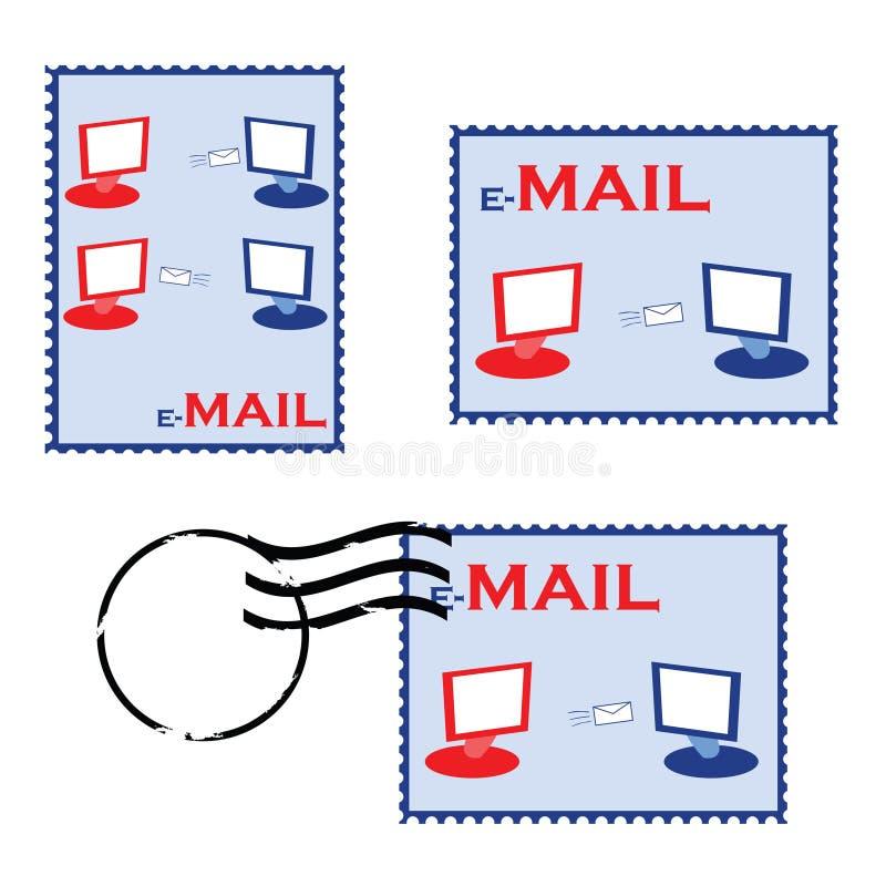 E-mail zegels vector illustratie