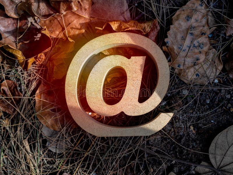 E-mailadres stock afbeelding