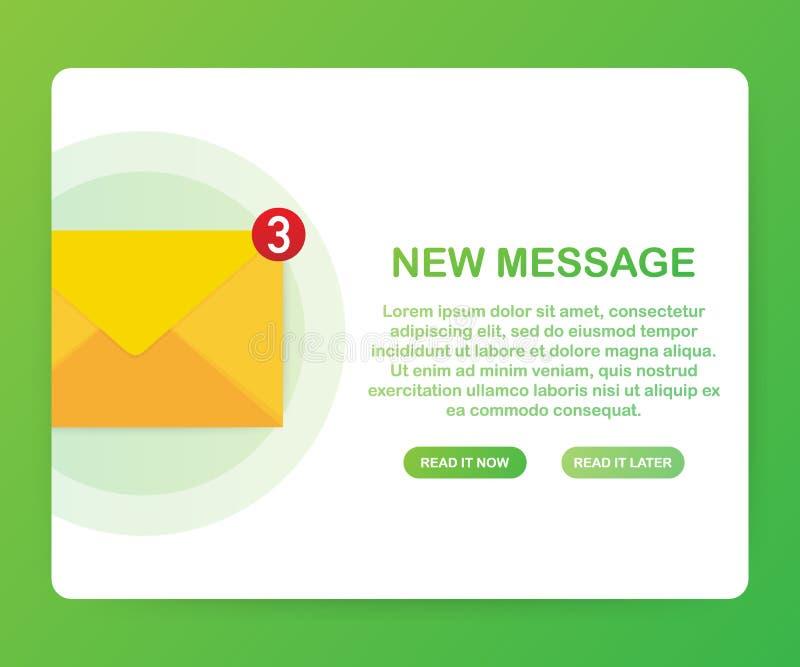 E-mailberichtconcept Nieuwe E-mail Vector illustratie vector illustratie