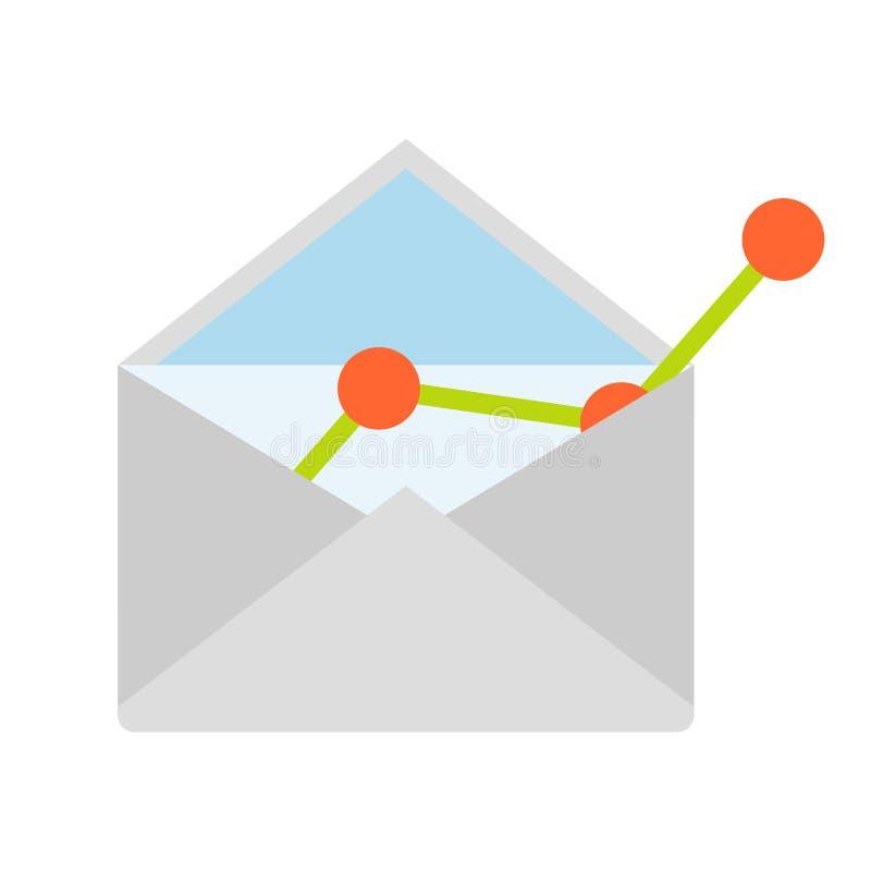 E-mailconcepten vlak pictogram royalty-vrije illustratie