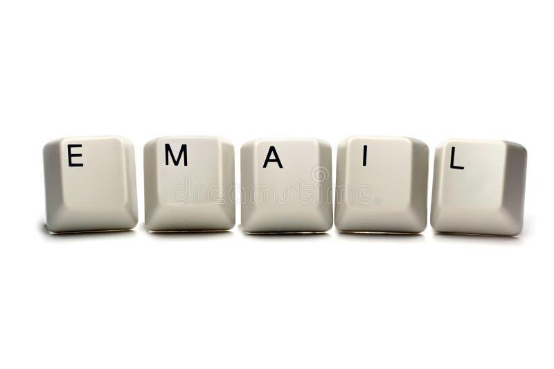 e - maile komputerowych klucze obrazy stock