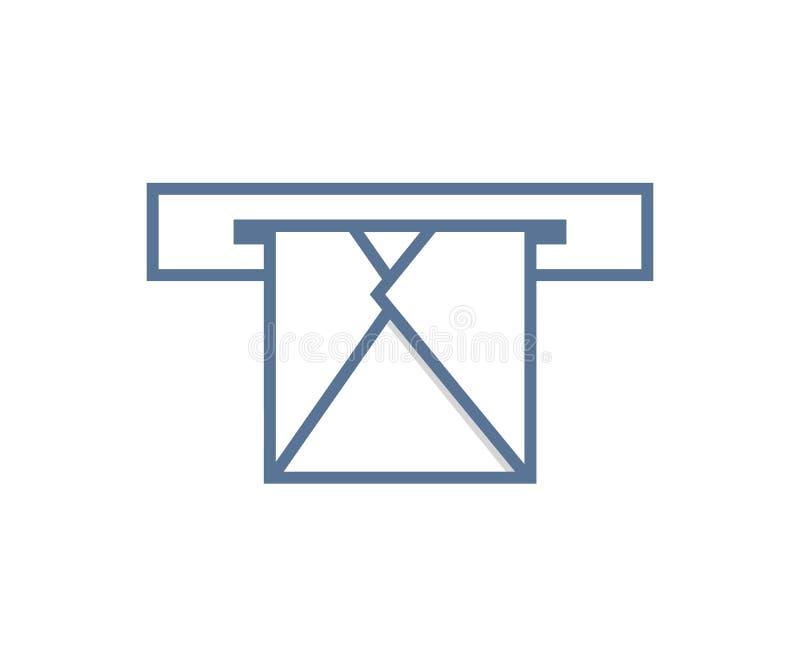 E-mailenvelop door brievenbus Of verzendend of het ontvangen Vectorpictogramontwerp royalty-vrije illustratie