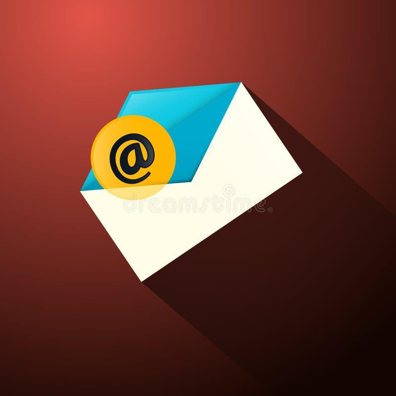 E-mailenveloppictogram royalty-vrije illustratie