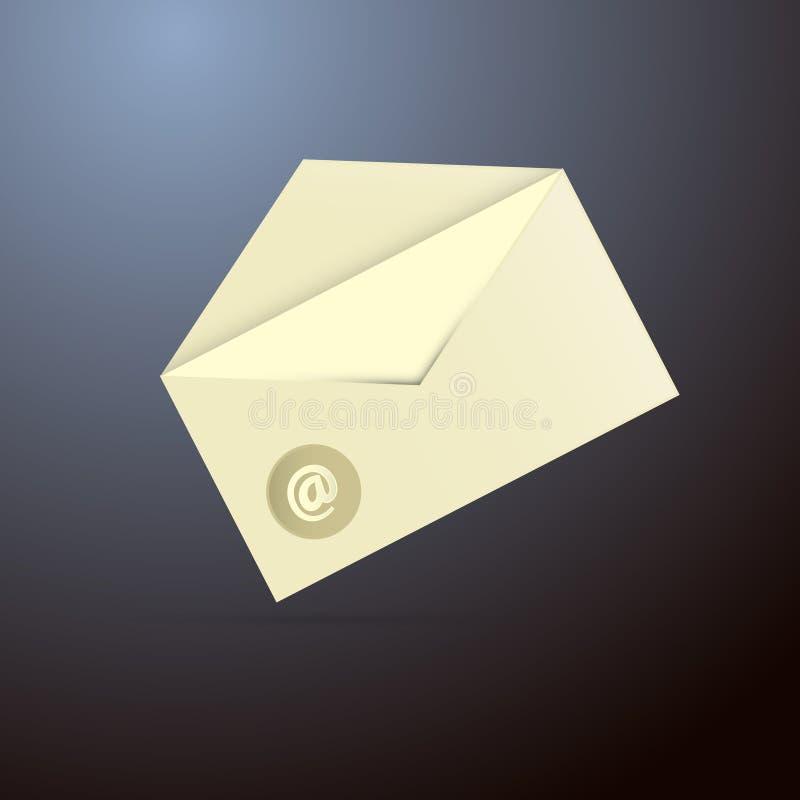 E-mailenveloppictogram stock illustratie