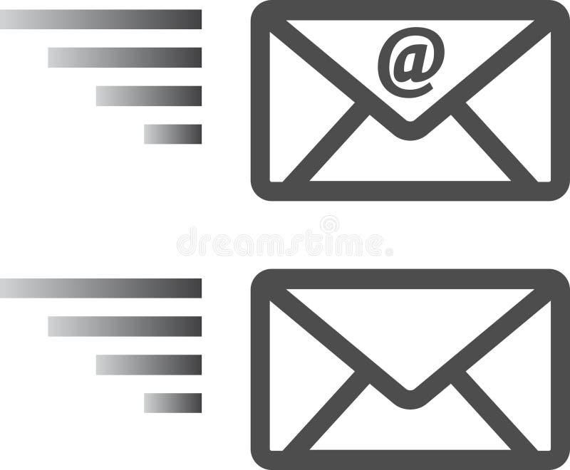 E-mailenvelopteken vector illustratie
