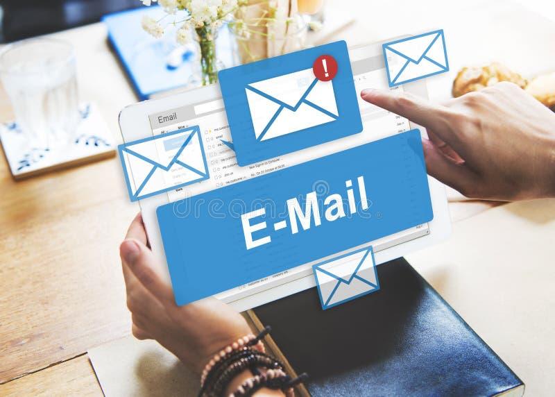 E-mailinbox Elektronisch Communicatie Grafiekconcept royalty-vrije stock afbeeldingen