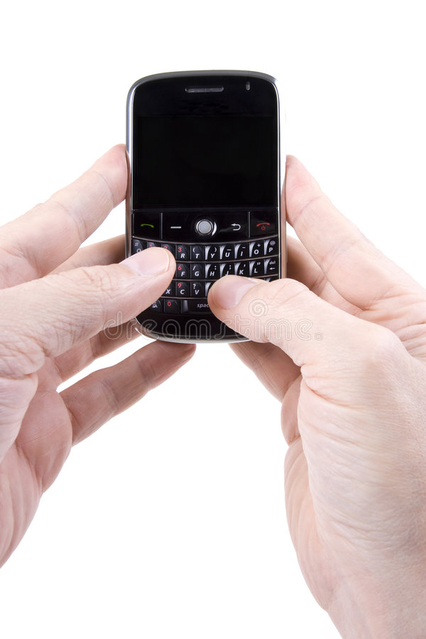 E-mailing On A Modern PDA/Smart Phone Royalty Free Stock Photo