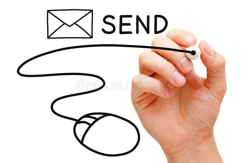 E-mailmuisconcept royalty-vrije stock fotografie
