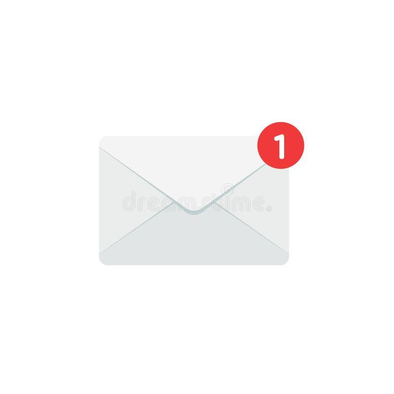 E-mailnotificatio royalty-vrije illustratie