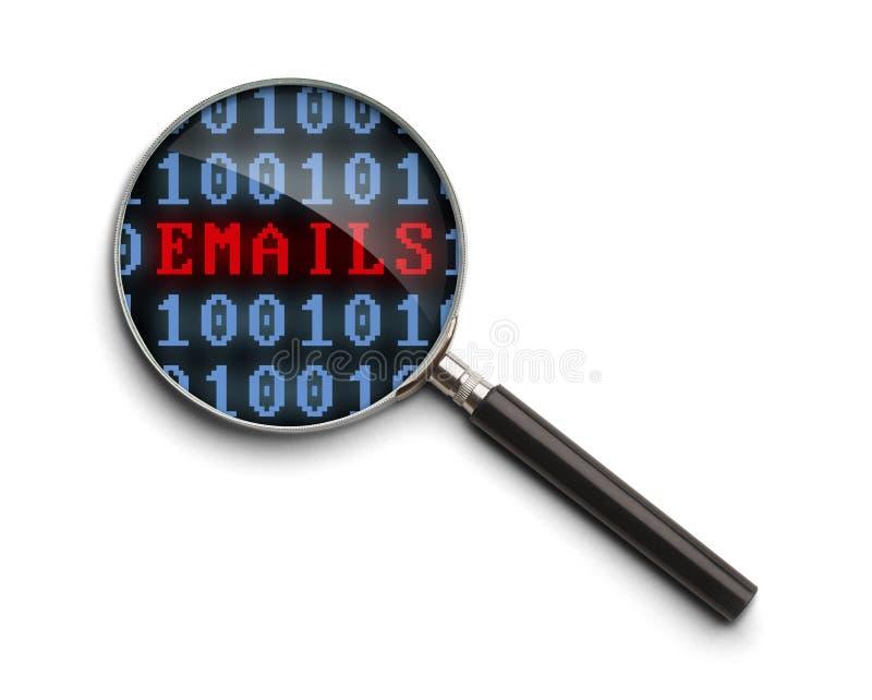 E-mailonderzoek stock foto
