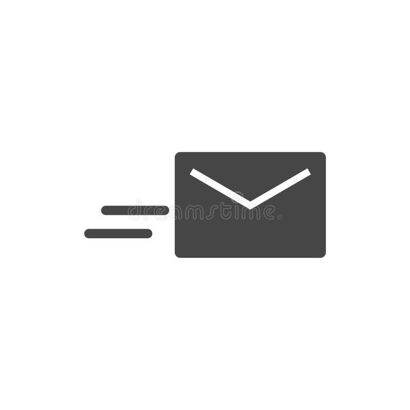 E-mailowa wektorowa ikona, e-mailowa ikona ilustracja wektor