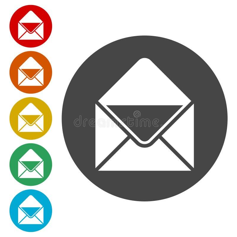E-mailowa wektorowa ikona, e-mailowa ikona royalty ilustracja