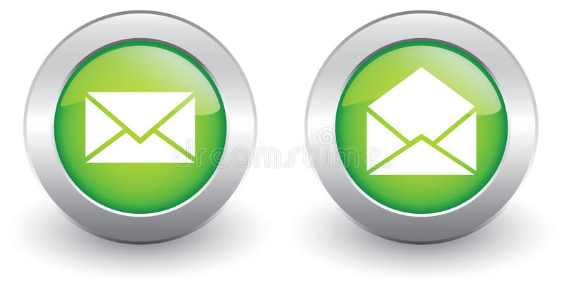 E-mailowe ikony ilustracji