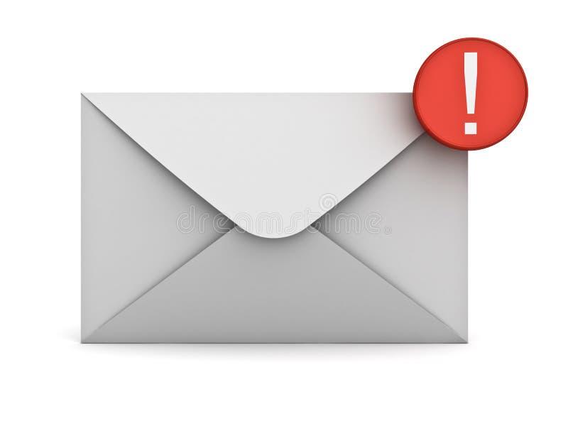E-mailowego powiadomienia nowy e-mail w inbox pojęciu ilustracji