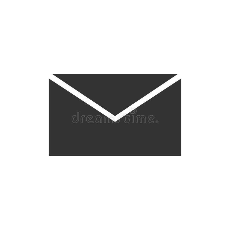 e-mailowy ikony mieszkanie ilustracja wektor