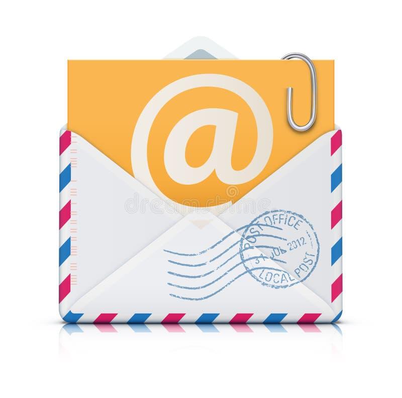 E-mailowy pojęcie ilustracja wektor