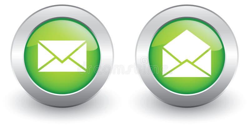 E-mailpictogrammen stock illustratie