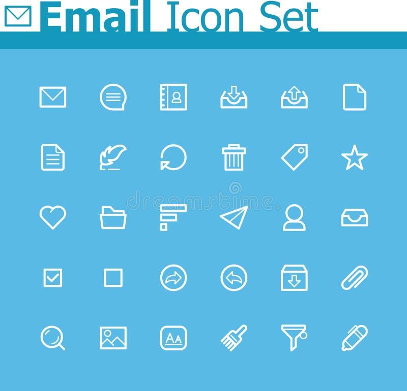 E-mailpictogramreeks vector illustratie