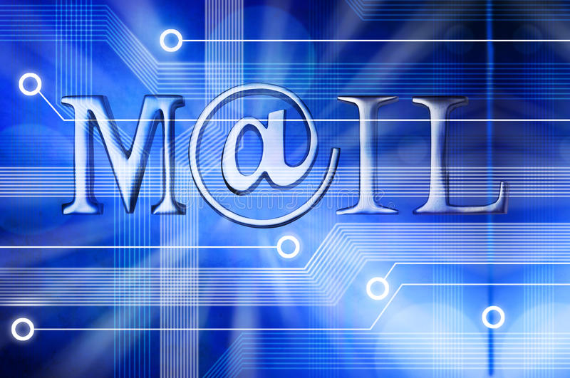 E-mailpostachtergrond vector illustratie