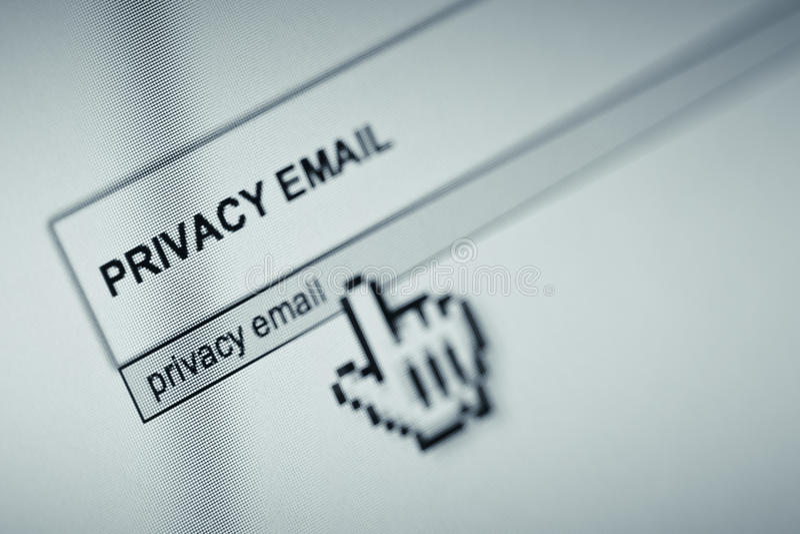 E-mailprivacy stock afbeeldingen