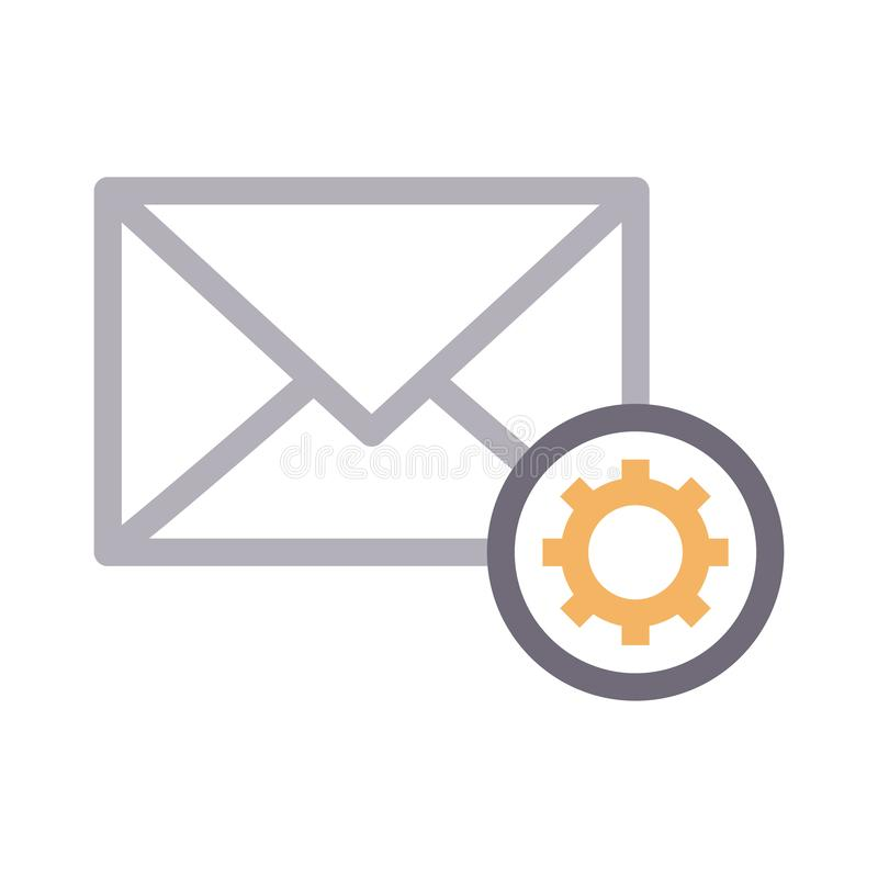 E-mailrassenbarrière vectorpictogram vector illustratie