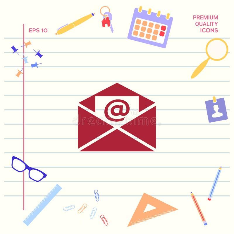 E-mailsymboolpictogram stock illustratie