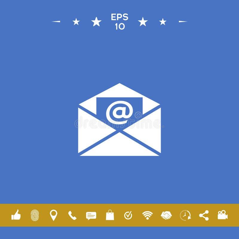 E-mailsymboolpictogram royalty-vrije illustratie