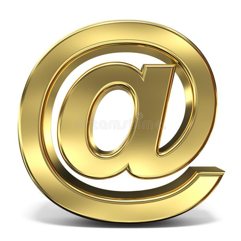 E-mailteken bij symbool 3D teruggevende illustratie op witte backgro vector illustratie