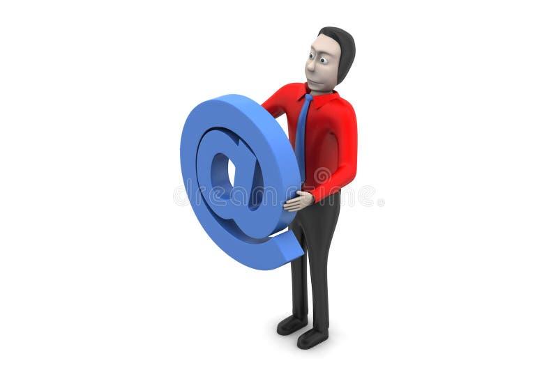 E-mailteken met de mens royalty-vrije illustratie
