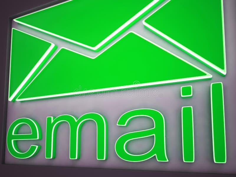 E-mailtekenknoop die Online Mededeling tonen stock illustratie