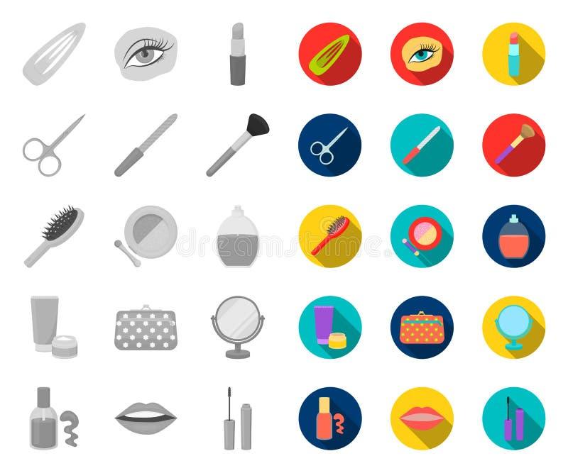 E Makeup och reng?ringsduk f?r materiel f?r utrustningvektorsymbol vektor illustrationer