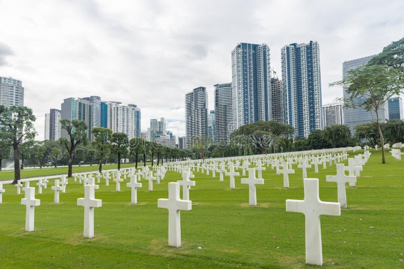 E Manila amerikansk kyrkogård och minnesmärke royaltyfri foto