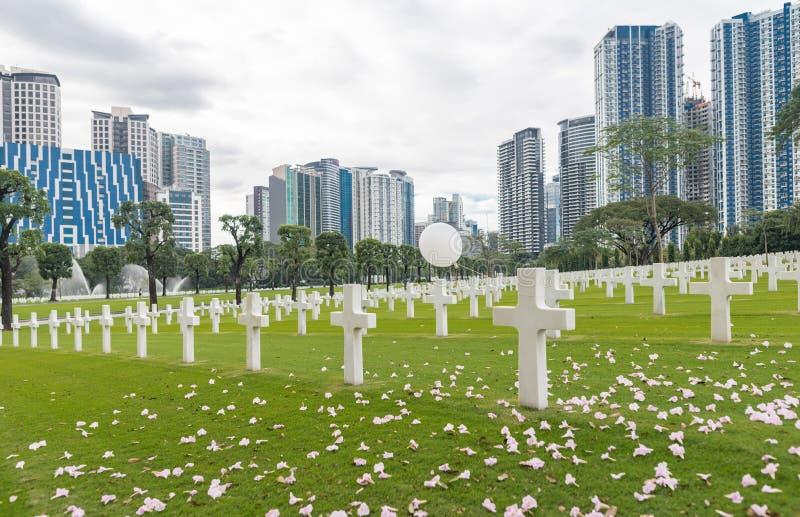 E Manila amerikansk kyrkogård och minnesmärke arkivfoto