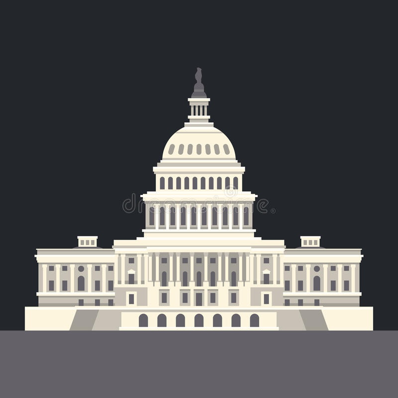 E Marco americano Vetor ilustração do vetor